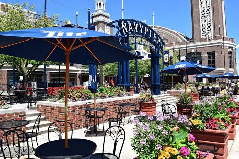 Enjoy music and drinks at the Beer Garden on Navy Pier (Navy Pier/Miller