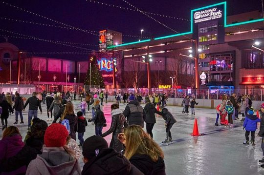 Skating in the Park at Parkway Bank Park Rosemont. (Photo courtesy of Parkway Bank Park)