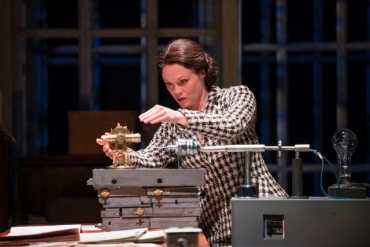 Chaon Cross Rosalind Franklin) in Court Theatre's Photograph 51 (Michael Brosilow photo)