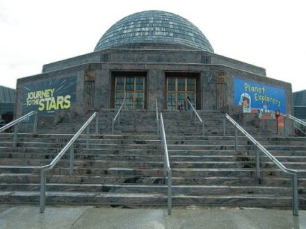 Adler Planetarium on the eastern edge of Chicago's Museum campus. (Photo by J Jacobs)