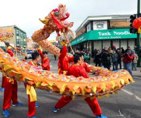 Argle Chinese New Year Parade. (Photo courtesy of Uptown organization and the Argyle Parade organization