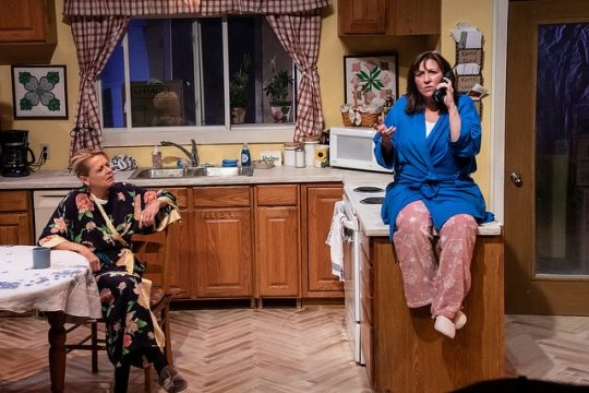 From left, Laurie Carter Rose (Robyn) and Ellen Phelps (Sharon) in The Roommate at Citadel Theatre. (Photo by North shore camera Club)
