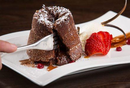 A dessert at the Chocolate Sanctuary. (Photo courtesy of Chocolate Sanctuary)