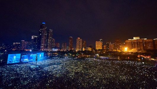 Lolla 2017 aerial photo by Charles Reagan Hackleman courtesy of Lollapaluza