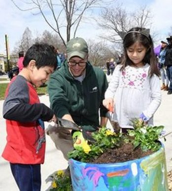 Planting is one of the activities in Brookfield Zoo's Party for the Planet Day April 14. (Photo courtesy of Brookfield Zoo)