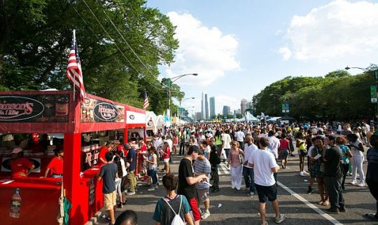 Taste of Chicago July 10-14 in Grant Park. (Photo courtesy of Choose Chicago, the city's visitor bureau)