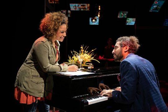 Katherine Thomas and Heath Saunders in 'Darling Grenadine' at Marriott Theatre. (Photo by Liz Lauren)