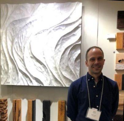 Marquette, MI artist Joseph Graci's wall piece is actually wood. (J Jacobs photo)