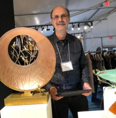 Joseph Pozycinski has been bringing fine glass sculptures to ACE for more than 25 years. (J Jacobs photo)
