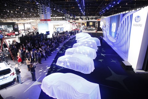 Subaru press conference at the 2018 Chicago Auto Show. (CAS photo)