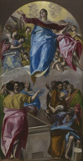 El Greco (Domenikos Theotokopoulos). The Assumption of the Virgin, 1577–79. The Art Institute of Chicago, Gift of Nancy Atwood Sprague in memory of Albert Arnold Sprague. (Photo courtesy of the Art Institute of Chicago)