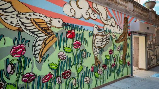 Radiance of Being mural by Kate Lynn Lewis. (Photo courtesy of City of Chicago))