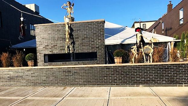 Drive through suburban Highwood to see the skeletons that populate its downtown (J Jacobs photo)