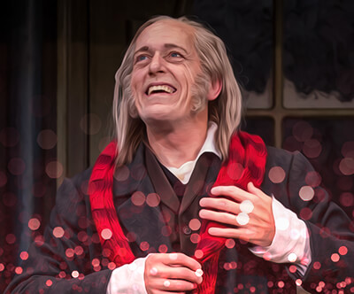 Larry Yando as Scrooge in Goodman theatre's audio version of 'A Christmas Carol' (Photo courtesy of Goodman Theatre