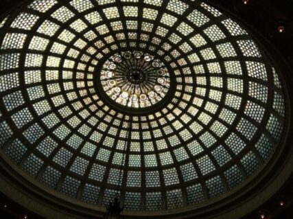 Tiffany dome at Chicago Cultural Center (J Jacobs photo)