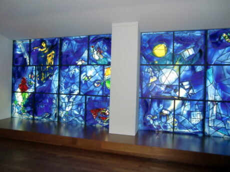 Chagall Windows at the Art Institute of Chicago (J Jacobs phto)
