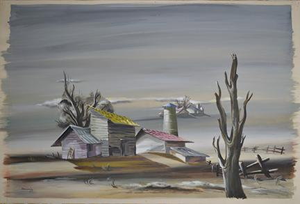 """""""The Dead Tree"""" Image courtesy of the Illinois State Museum)"""