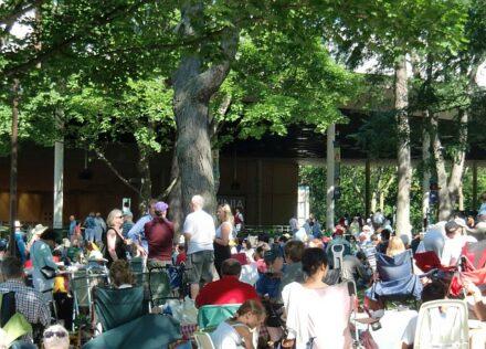 Music lovers also sit outside the Pavilion to enjoy Ravinia. ( J Jacobs photo)