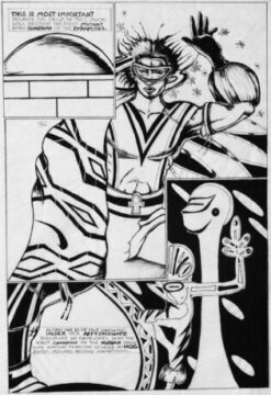 Turtel Onli, Nog comic book page, 1980. © 1981 Turtel Onli (Courtesy of the artist)