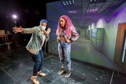 'I Hate It Here' live online at Goodman theatre. (Photo by Flint Chaney)