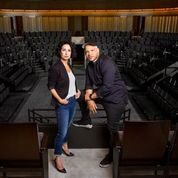 Co-artistic directors Audrey Francis and Glenn Davis. In the round theater part of Steppenwolf's new Arts and Education Center opening this fall. (Photo by Frank Ishman.)
