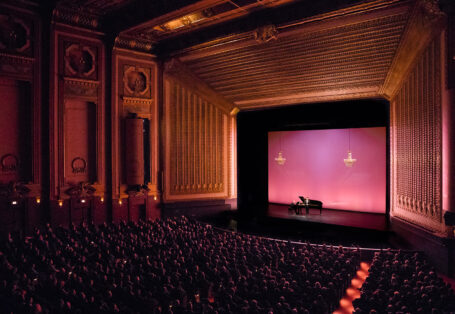 Lyric Opera stage (during a recent concert) Photo courtesy of Lyric Opera of Chicago