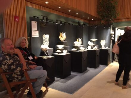 Eye-catching art at an ACE booth at the Chicago botanic Garden. (IJ Jacobs photo)