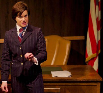 Kat Evans as Robert Kennedy in City Lit Theater's 'Thirteen Days.'