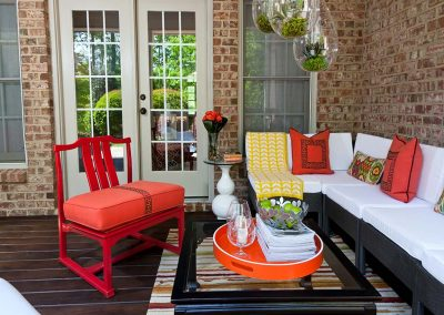 modern colorful porch