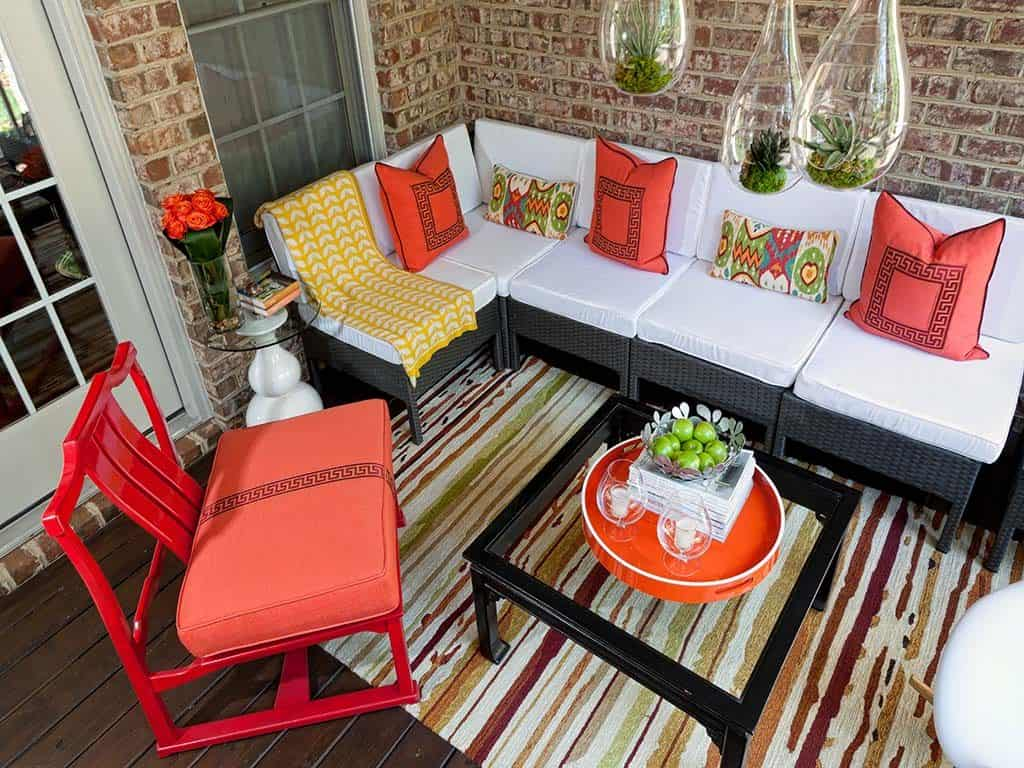 throw pillows.outdoor space. finishing touches.couture.haus. interior.design.