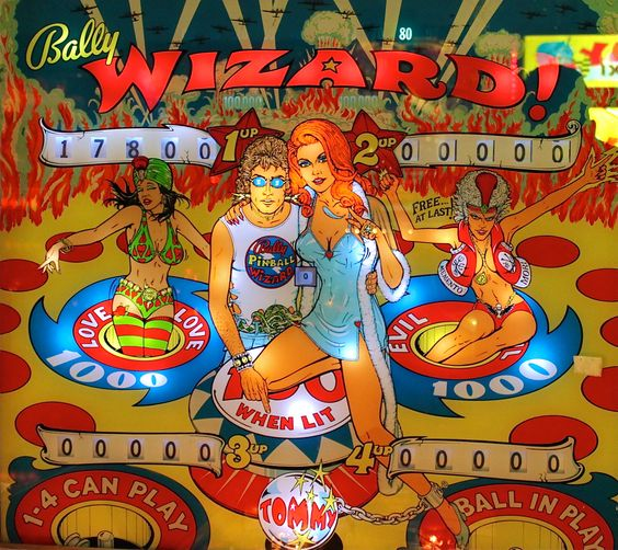 wizard pinball machine tommy movie the who