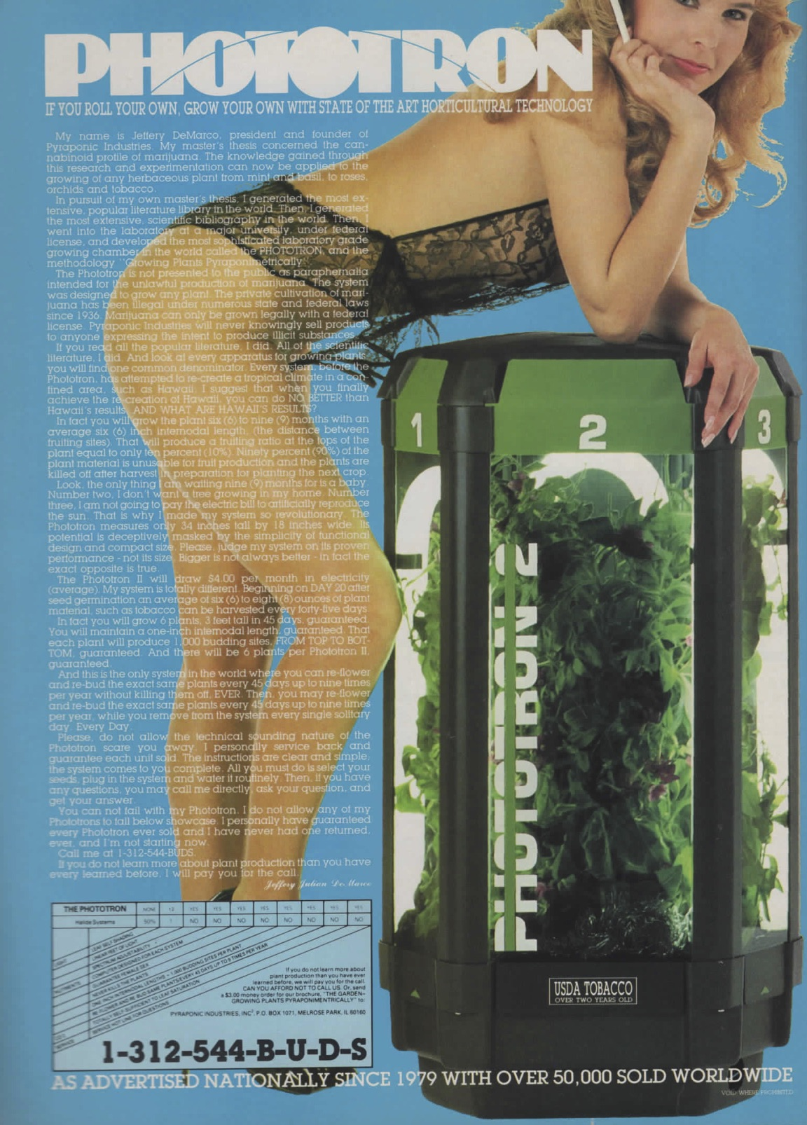 weed growing ad retro