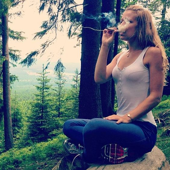 getting high in the woods