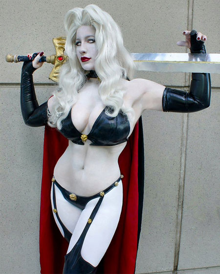 epic cosplay leather white hair sword