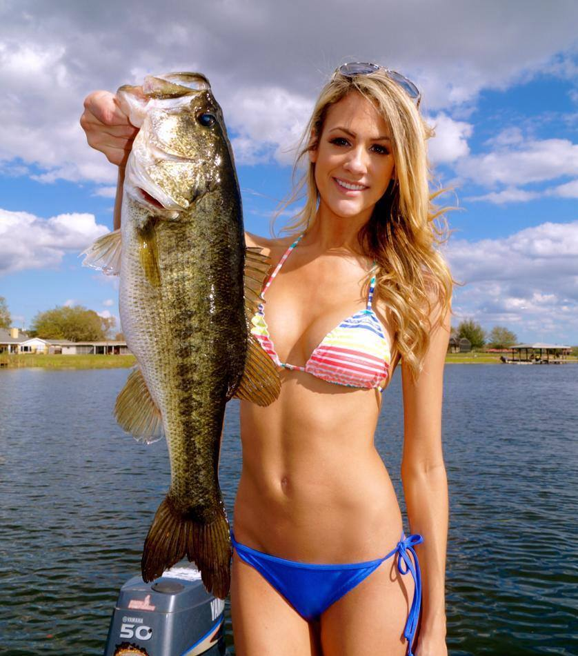 sexy girl with sexy fish