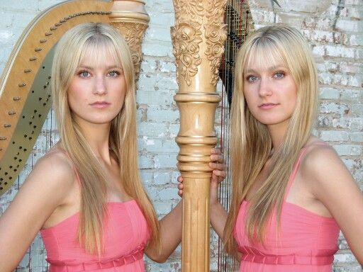 twin harp sisters blonde babe hot