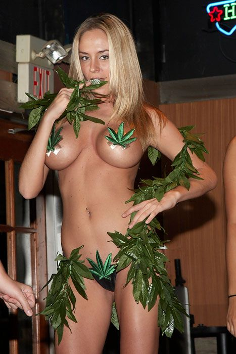 weed pasties blonde babe hot cannabis clothes