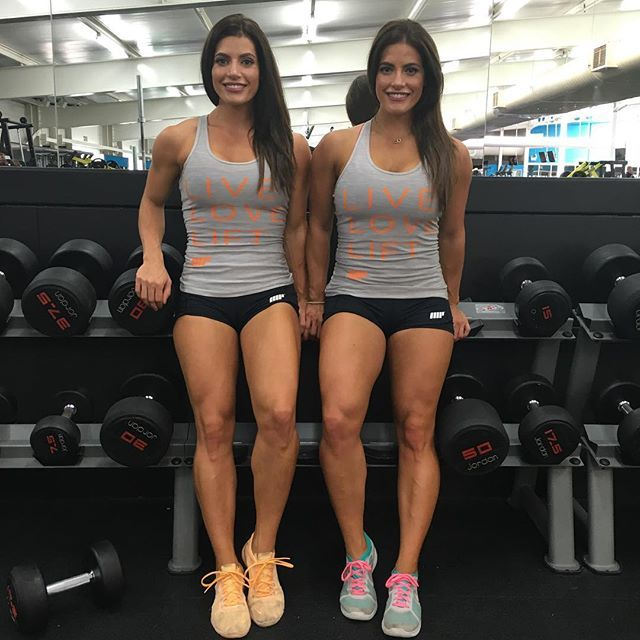 brunette workout babes twin sisters