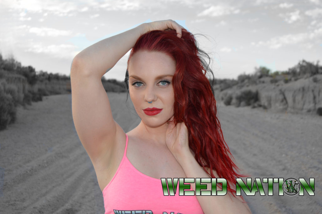weed nation redhead babe with pink top hot sexy