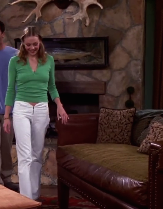 friends guest star alexandra holden hot in green top and white pants
