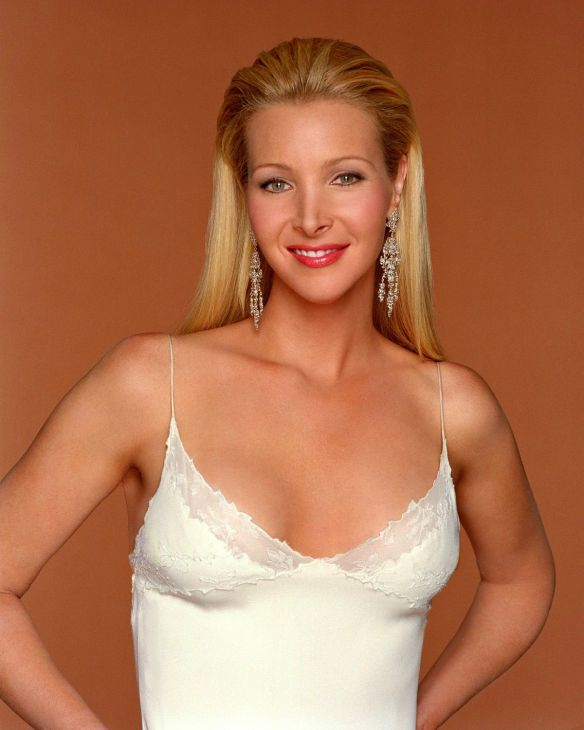 lisa kudrow glamour shot on friends hot blonde