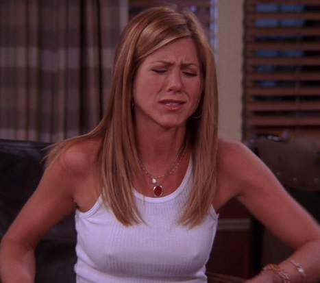 rachel on friends nipples white tank top aniston jennifer