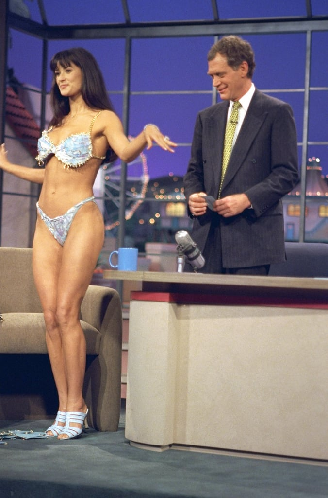 demi moore shows it all on david letterman