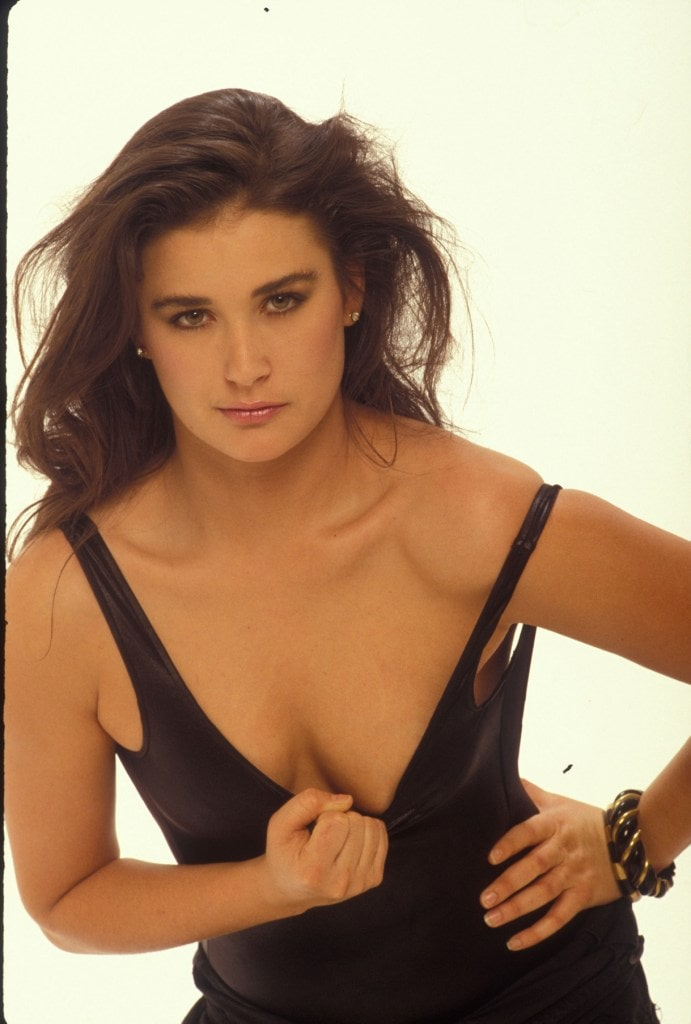 cleavage of demi moore