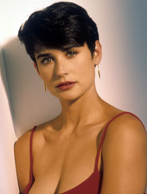 demi moore in ghost short hair red dress
