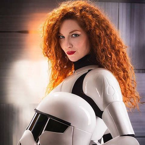 red haired stormtrooper babe