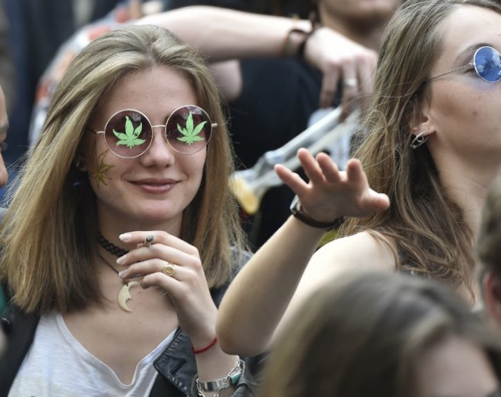 stoner girls at hemp festival having fun times