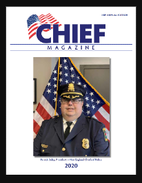 Chiefs magazine cover picturing chief in uniform in front of American flag