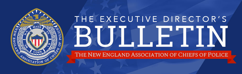 blua background stars and stripes art with executive director bulletin text