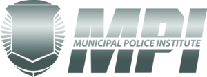 Municipal training institure grey mpo letters with generic police shield
